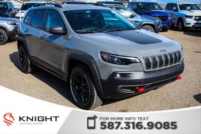 new 2019 jeep cherokee trailhawk elite 4x4 v6 sunroof navigation
