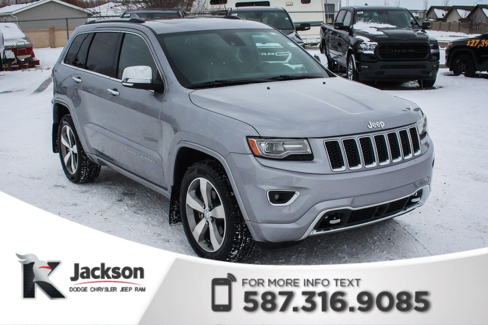 Pre-Owned 2014 Jeep Grand Cherokee Overland - AWD, Panoramic Sunroof, Air Ride