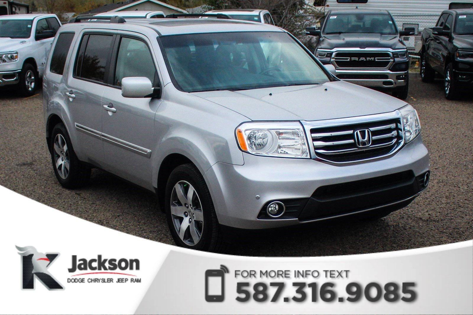 Pre Owned 2013 Honda Pilot Touring   3rd Row Seating, DVD Player, Power  Sunroof