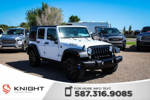 Pre-Owned 2017 Jeep Wrangler Unlimited Willys Wheeler - Bluetooth, Accident Free