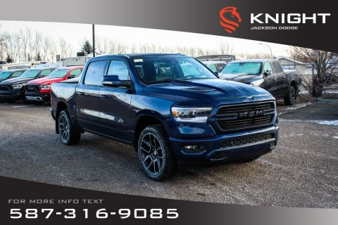 New 2020 Ram 1500 Sport Crew Cab | Leather | Sunroof | Navigation | 12 Touchscreen