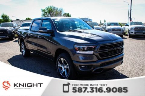 New 2019 Ram 1500 Sport Crew Cab | Leather | Sunroof | Navigation | 12 Touchscreen