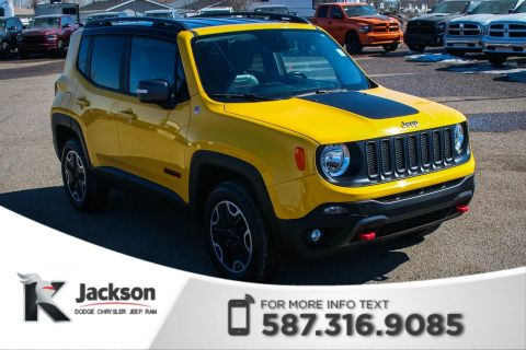 Pre-Owned 2015 Jeep Renegade Trailhawk - Remote Start, Touchscreen, Leather